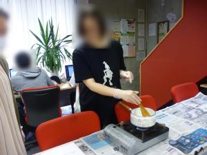 冷たい杏仁豆腐にチャレンジ★