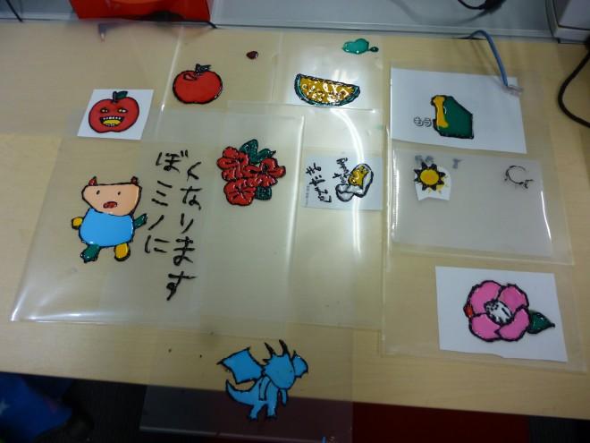 ガラス絵の具に挑戦!!