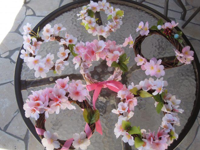 桜のリース作成でリフレッシュ🌸