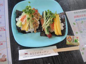 勾玉づくり&手巻き寿司でランチ🍚